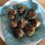 Homemade broccoli and mushroom  balls (vegan!)