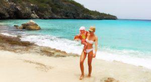Slider Mom and Baby Beach