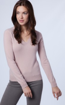 Columns by Kari Repeat Cashmere Pink Sweater