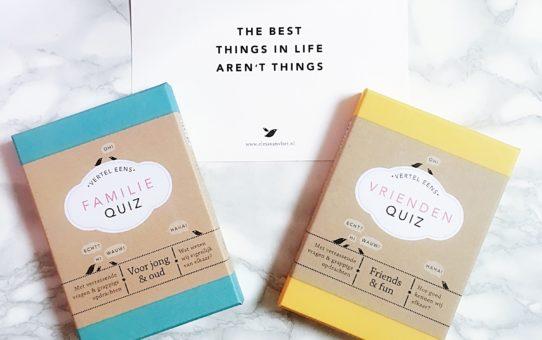 quiz spellen van Elma van Vliet voor familie en vrienden