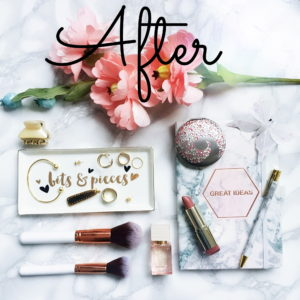 Before & After Flatlay
